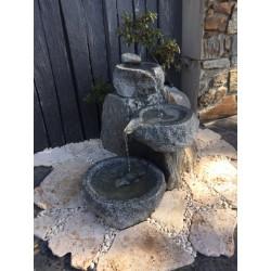 Fuente granito tres vasos